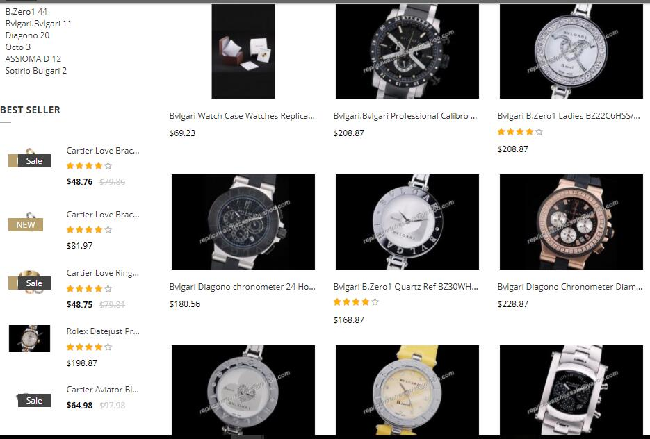 high quality replica bvlgari watches sale